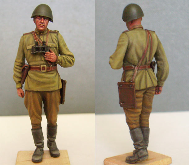 Figures: Red Army officer, summer 1943