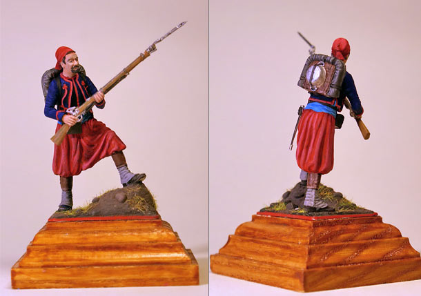 Figures: French Zouave, Crimean war