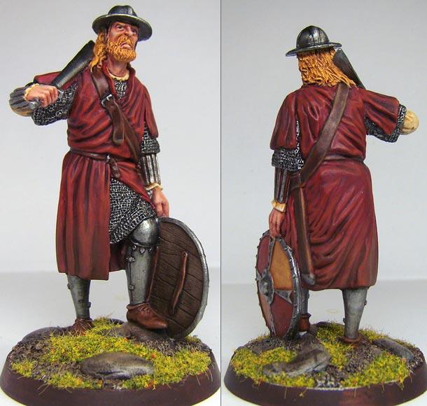 Figures: German soldier, XIV century