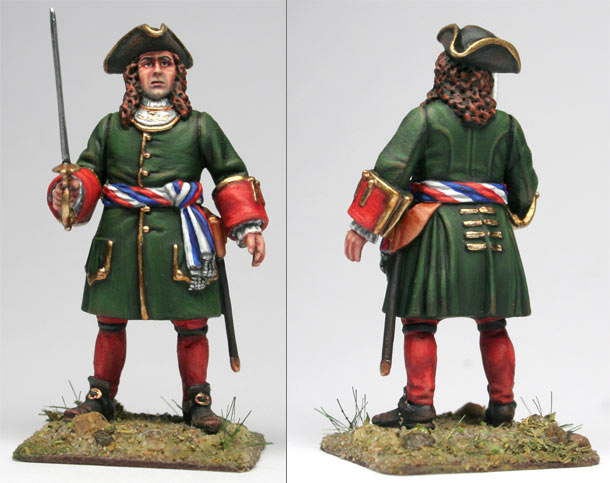 Figures: Russian infantry officer, early XVIII century.