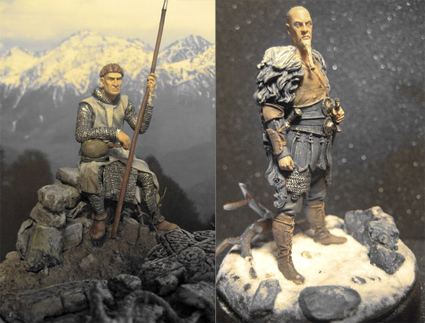 Figures: Norman and Saxon warriors