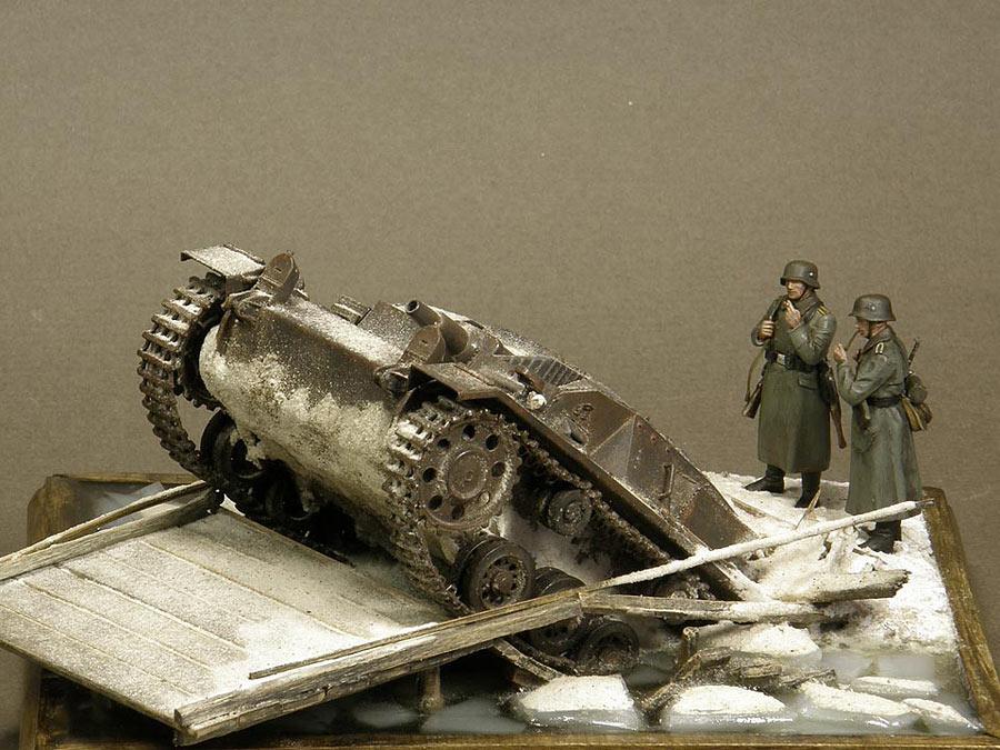Dioramas and Vignettes: Frozen StuG, photo #1