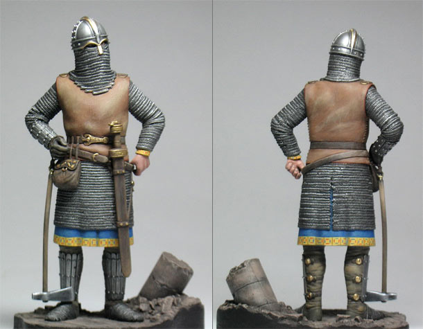 Figures: English King, VII century A.D.