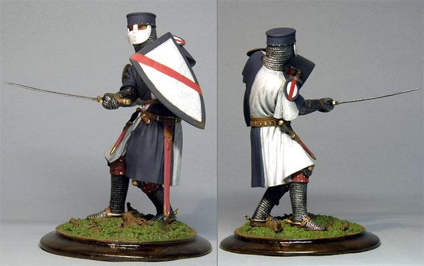 Figures: European knight, XIV century