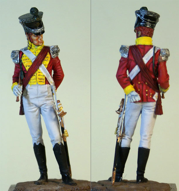 Figures: British officer, 71st  infantry regt.