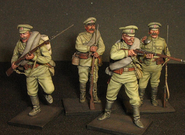 Figures: Russian infantry, WWI