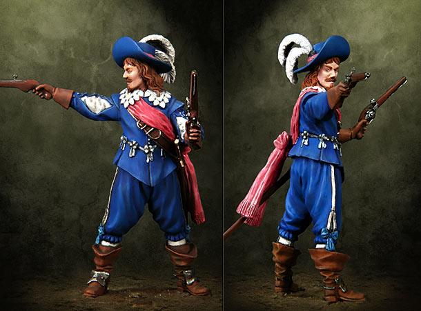 Figures: Musketeers officer, Europe, XVII century