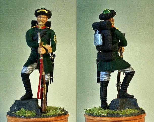 Figures: Feldwebel, Georgian grenadiers regt., 1850