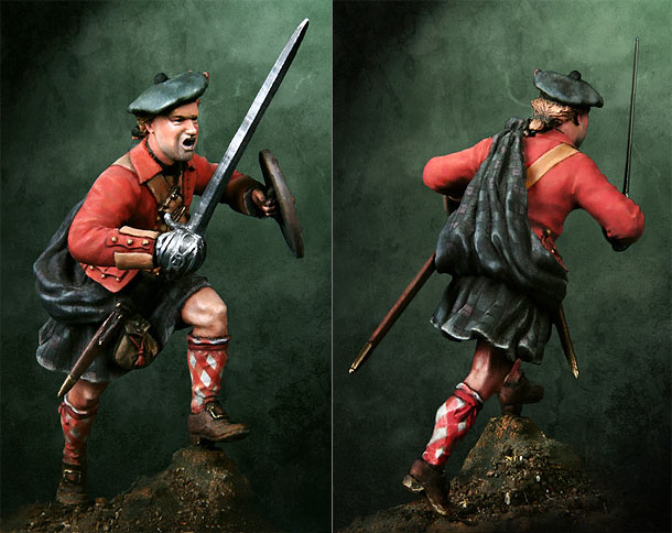 Figures: Scottish Highlander, 1746