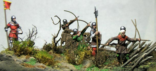 Dioramas and Vignettes: English archers in action