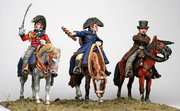 Figures: British generals, Waterloo, 1815