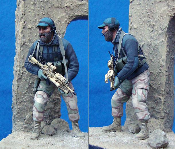 Figures: U.S. Special Forces trooper, Afghanistan, 2001