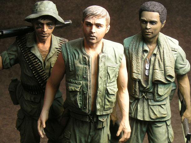 Figures: Vietnam memorial comes alive