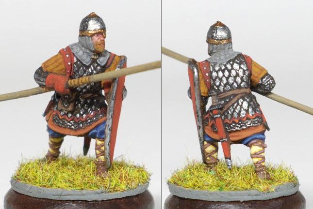 Figures: Russian warrior, XIII A.D.