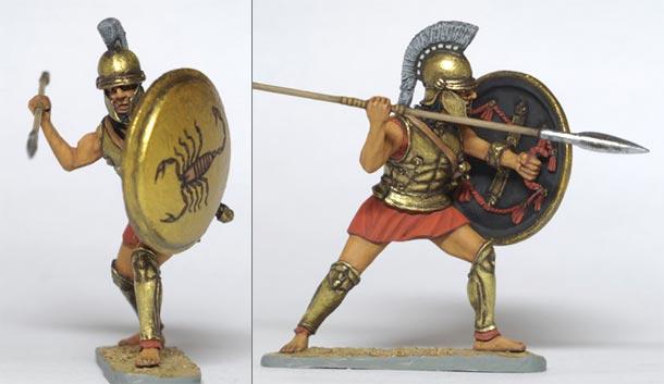 Figures: Spartan hoplite, early V century B.C.