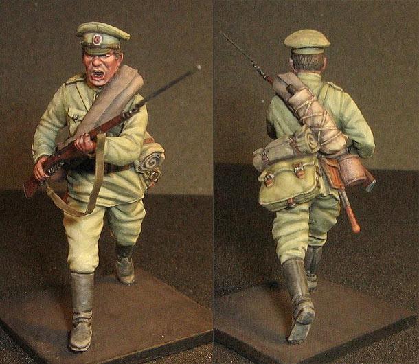 Figures: Russian infantryman, WWI