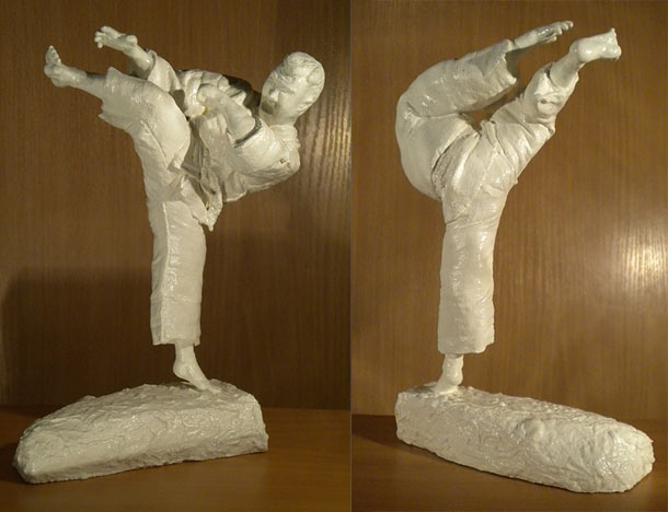 Sculpture: Mawashi Geri