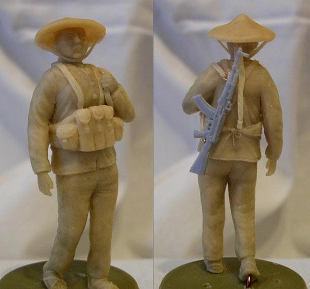 Sculpture: Vietnamese female guerilla