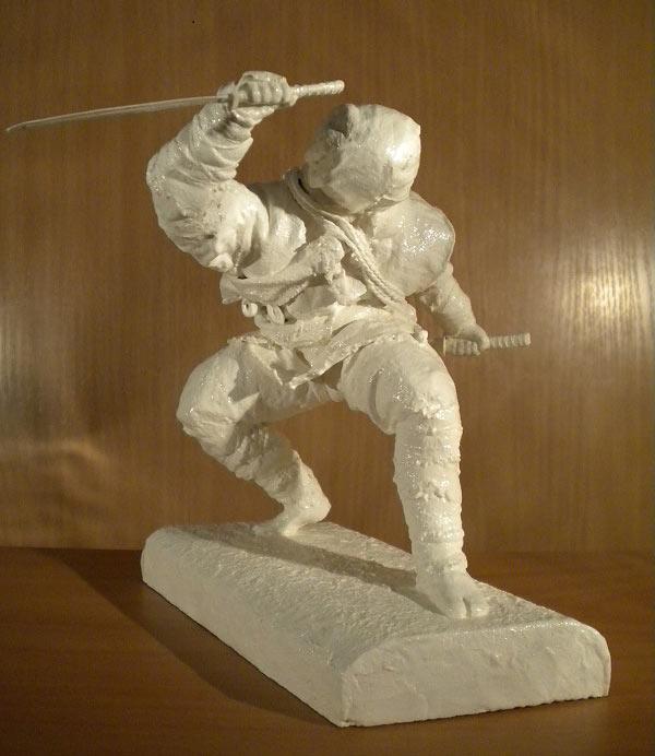 Sculpture: Ninja. Shadow of the Night, photo #1