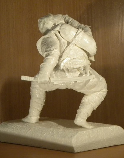 Sculpture: Ninja. Shadow of the Night, photo #2