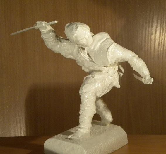 Sculpture: Ninja. Shadow of the Night, photo #5