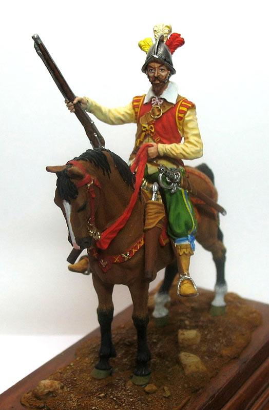 Figures: Mounted harquebusier, early XVII century, photo #2