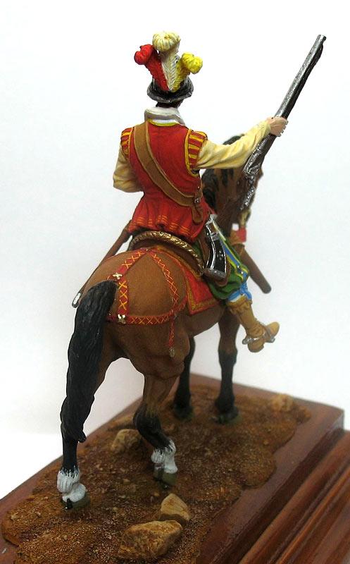 Figures: Mounted harquebusier, early XVII century, photo #6