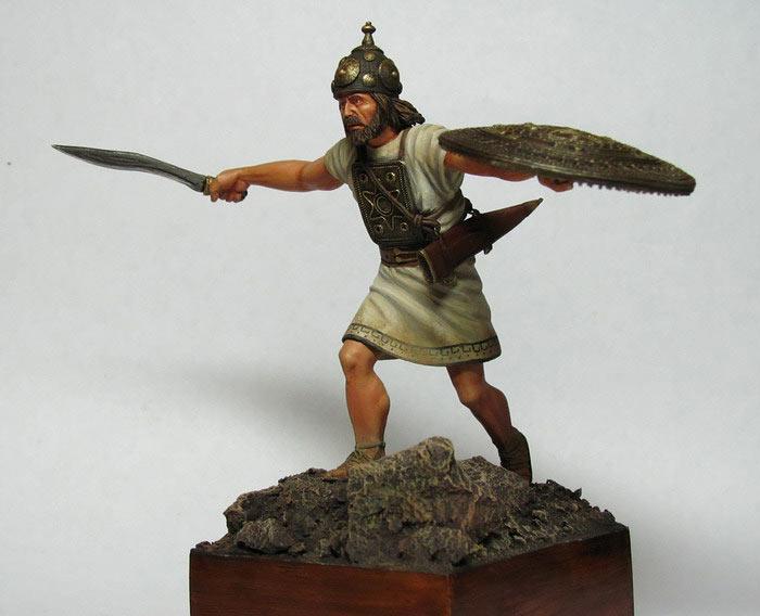 Figures: Italic warrior, VI-V centuries B.C., photo #3