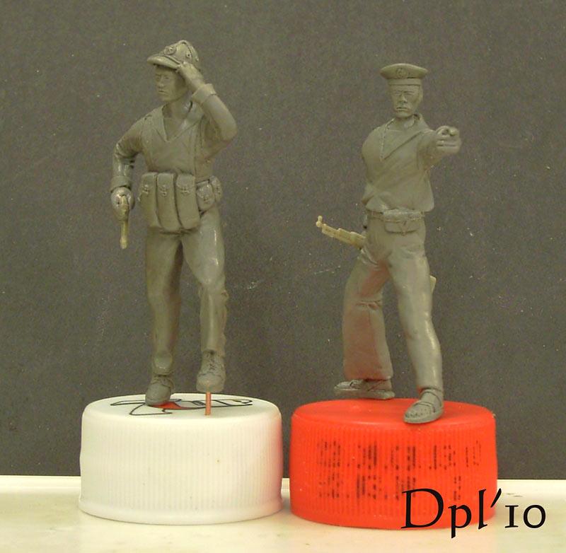 Sculpture: NVA marines. Vietnam, 1975, photo #2