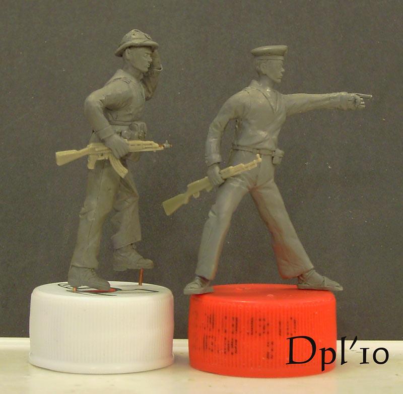 Sculpture: NVA marines. Vietnam, 1975, photo #5