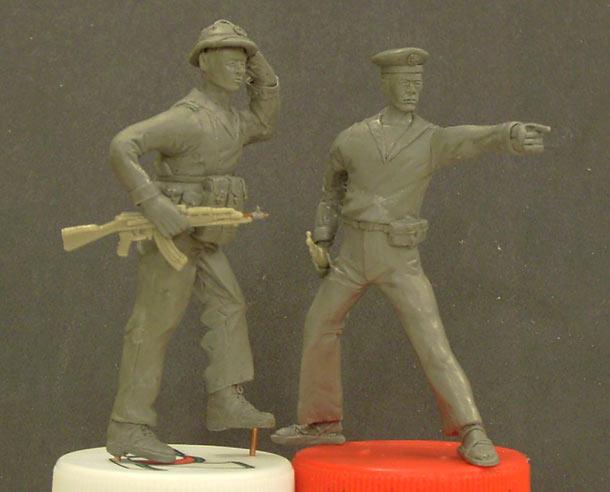 Sculpture: NVA marines. Vietnam, 1975