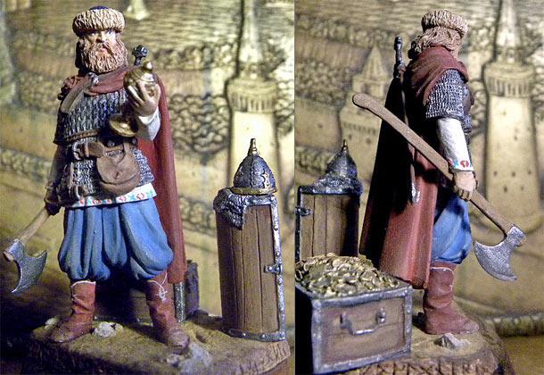 Figures: Russian warrior, IX-X A.D.