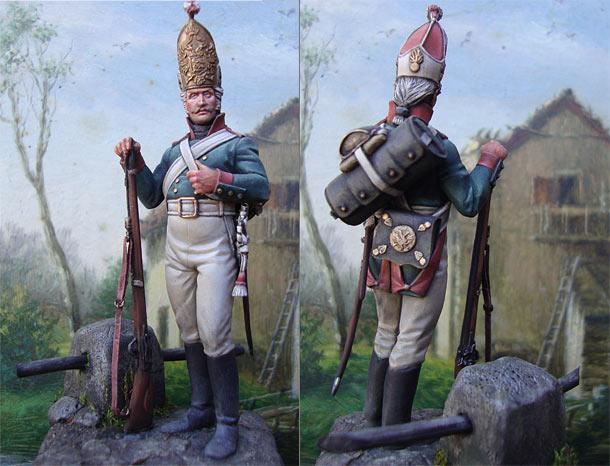 Figures: Grenadier, Pavlovsky regt., early XIX century