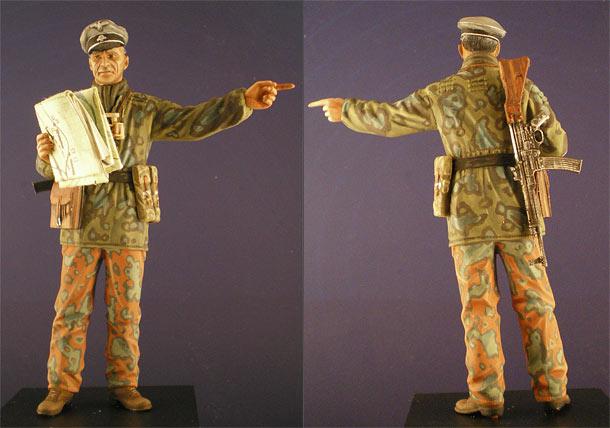 Figures: Sturmbannfuhrer, Ardennes, 1944