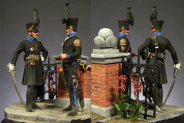 Dioramas and Vignettes: Braunschweig Hussars, 1814