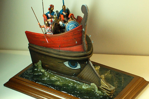 Dioramas and Vignettes: Greek warriors on the ship