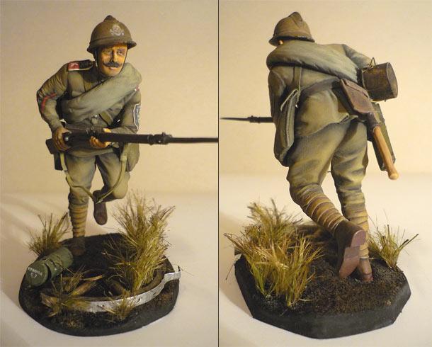 Figures: Kornilov's shock regiment trooper, 1917