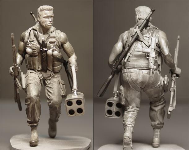 Sculpture: Commando (John Matrix)