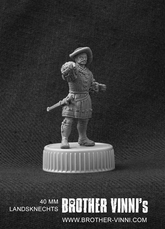 Sculpture: Landsknechts officer, photo #6