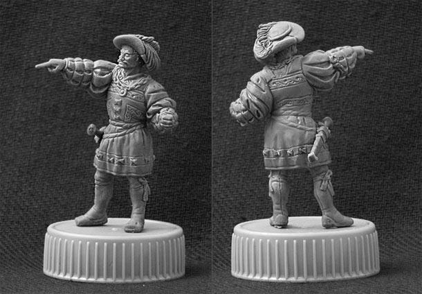 Sculpture: Landsknechts officer