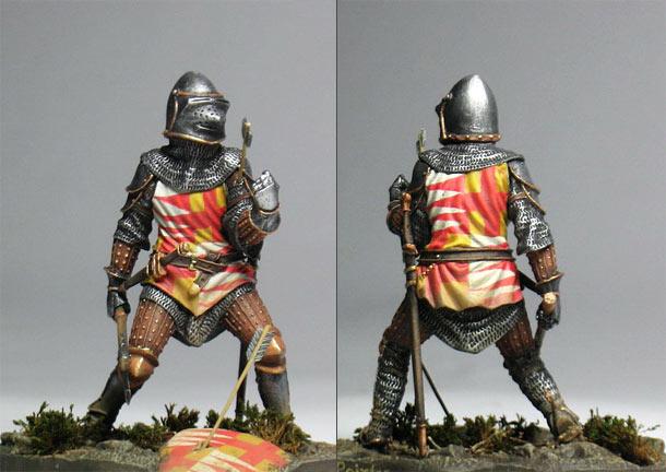 Figures: Knight, XIV century