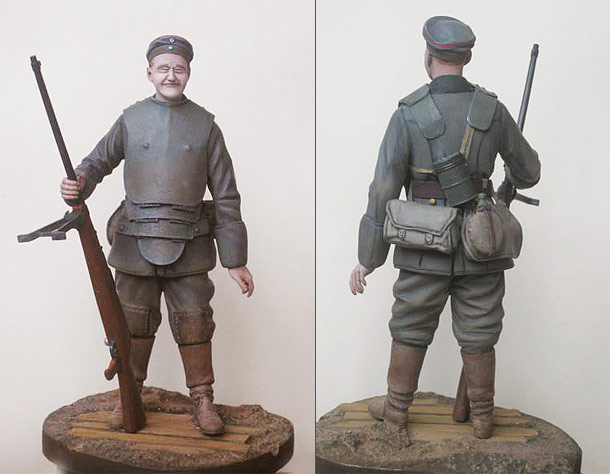Figures: German tank hunter, 1918