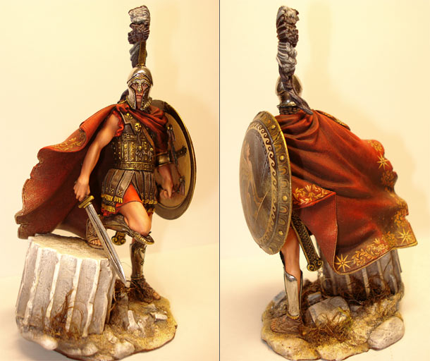 Figures: Greek warrior, V century B.C.