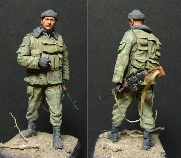 Figures: Sniper, modern Russian paratroops