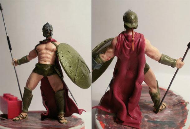 Sculpture: Spartan warrior