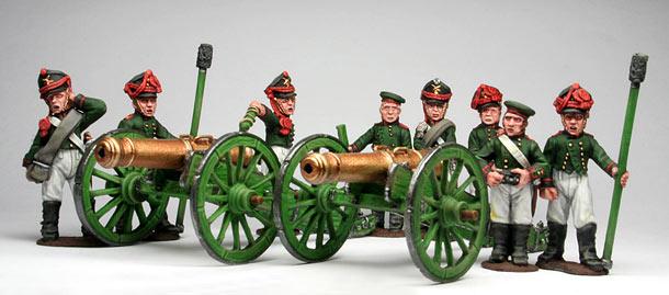 Figures: Russian artillery, 1812