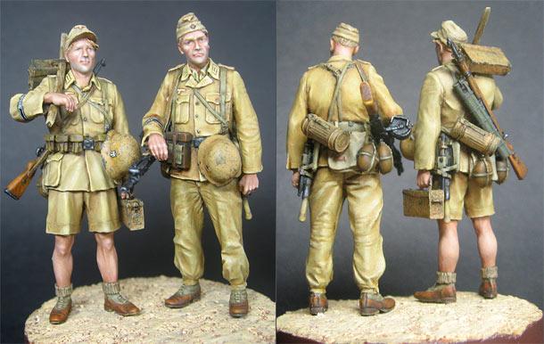 Figures: DAK infantrymen