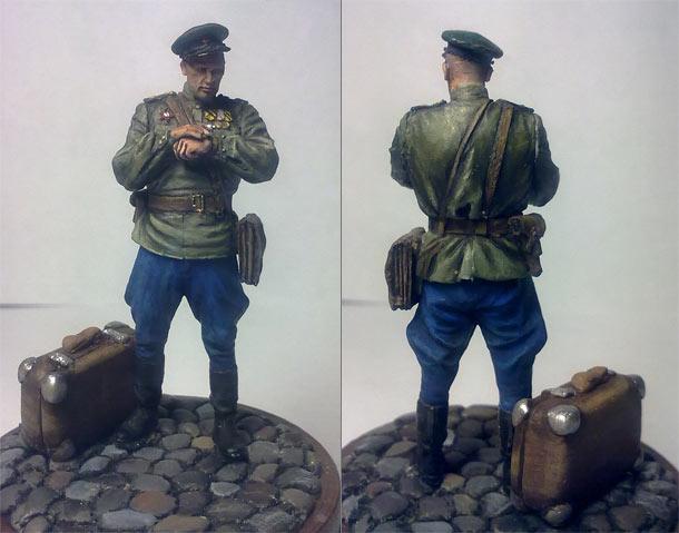 Figures: Soviet border guards officer, 1945