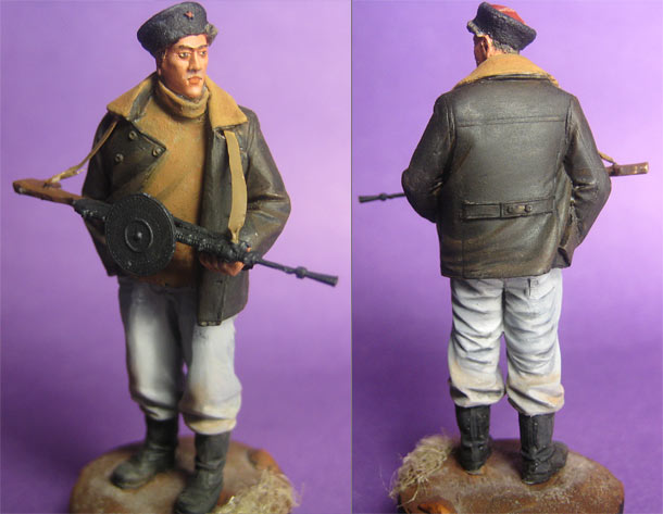 Figures: Soviet partisan. Belorussia, 1944