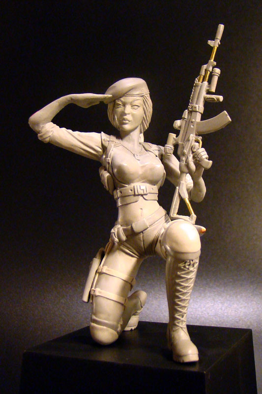 Sculpture: Russian Army Girl, photo #1